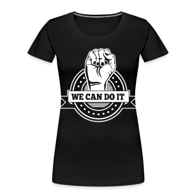 Camiseta Organica Mujer  We can do it