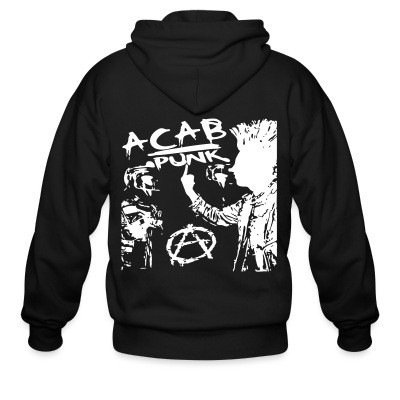 Capuche Zipper ACAB punk