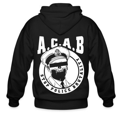 Capuche Zipper Acab / Stop police brutality