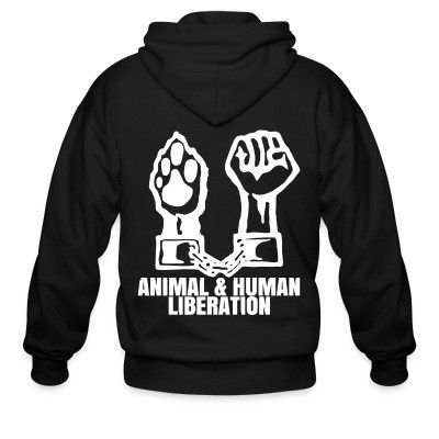 Capuche Zipper Animal & human liberation