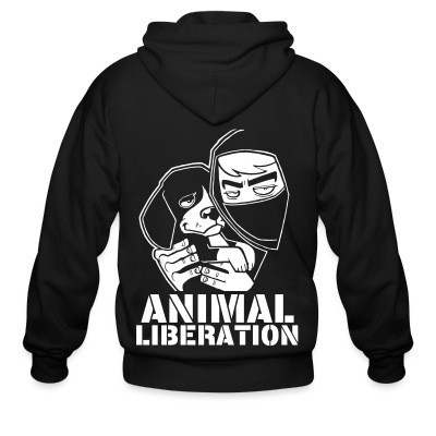 Capuche Zipper Animal liberation
