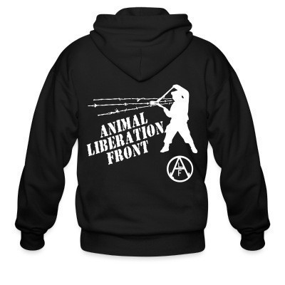 Capuche Zipper Animal Liberation Front - ALF