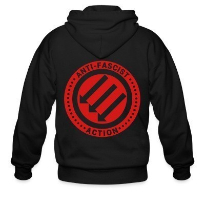 Capuche Zipper Anti-fascist action