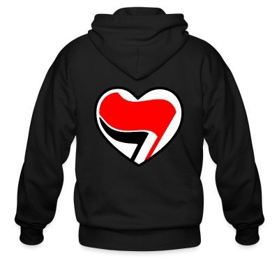 Capuche Zipper Antifa Love