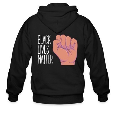 Capuche Zipper Black lives matter