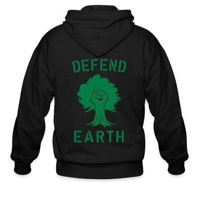Capuche Zipper Defend earth