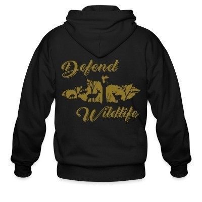 Capuche Zipper Defend wildlife