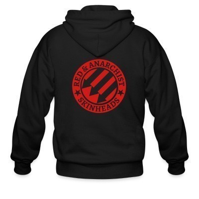 Capuche Zipper Red & anarchist skinheads