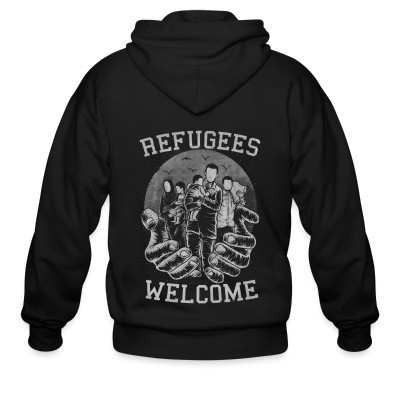 Capuche Zipper Refugees Welcome