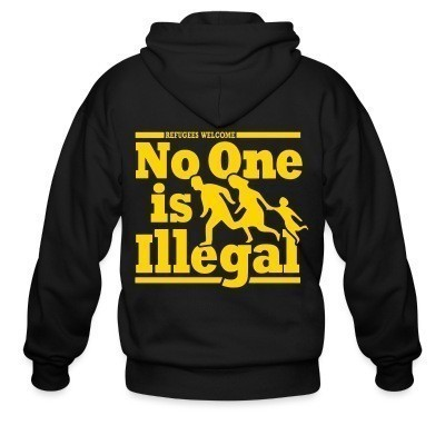 Capuche Zipper Refugees welcome - no one is illegal