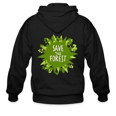 Capuche Zipper Save the forest