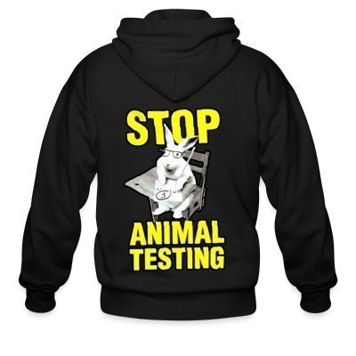 Capuche Zipper Stop animal testing