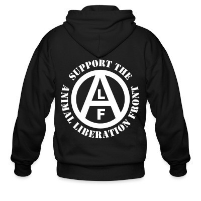 Capuche Zipper Support the Animal Liberation Front (ALF)