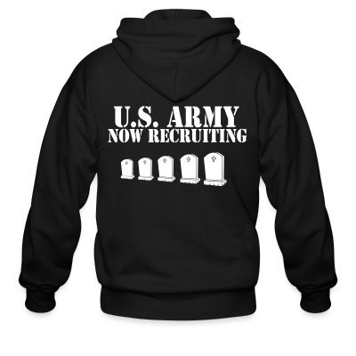 Capuche Zipper U.S. Army now recruiting