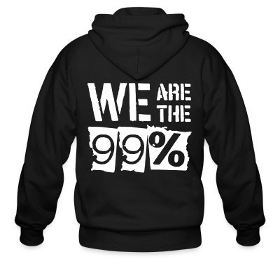 Capuche Zipper We are the 99%