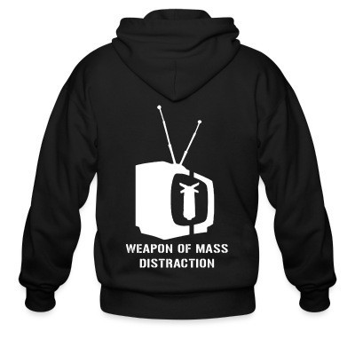 Capuche Zipper Weapon of mass distraction