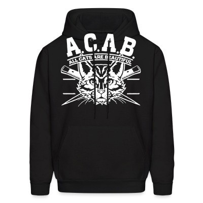 Capuche A.C.A.B. All Cats Are Beautiful