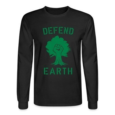 Mangas Largas Defend earth