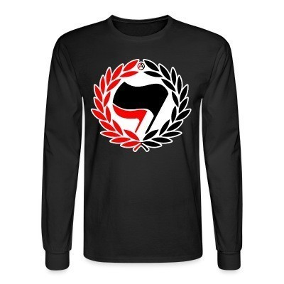 Mangas Largas Red & Black Antifa Flags
