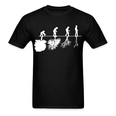Camiseta Human evolution and the destruction of the environment