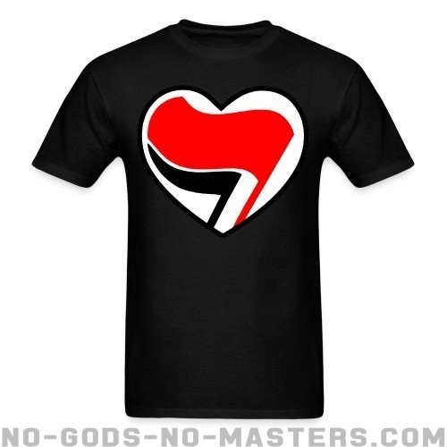 Antifa Love - Anti-fascista Camiseta