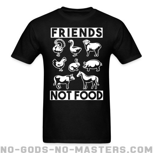 Friends not food - Liberacion Animal Camiseta