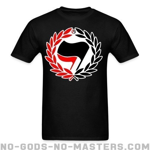 Red & Black Antifa Flags - Anti-fascista Camiseta