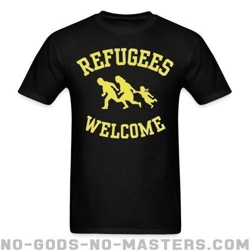 Refugees welcome - Anti-fascista Camiseta