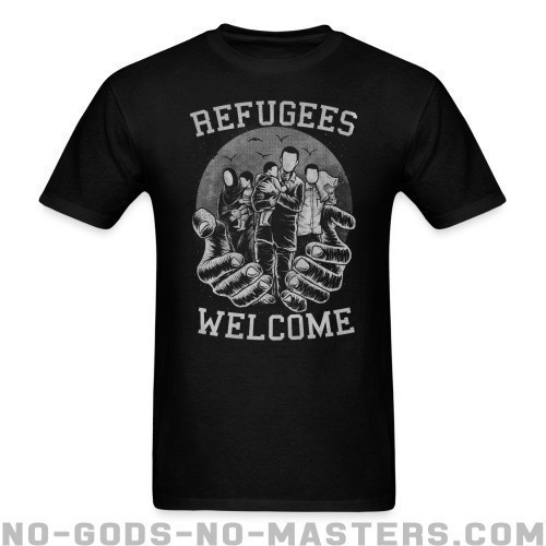 Refugees Welcome - Anti-Guerra Camiseta