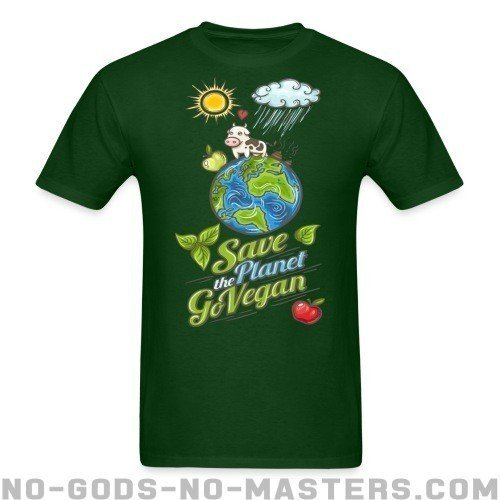 Save the planet go vegan - Liberacion Animal Camiseta