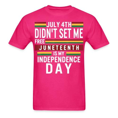 July 4th didn't set me free, juneteenth is my independence day