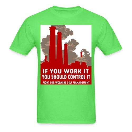 If you work it you should control it - fight for workers self management